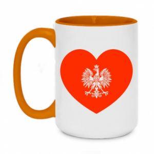 Kubek dwukolorowy 450ml Eagle in the heart
