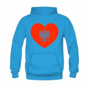 Bluza z kapturem dziecięca Eagle in the heart