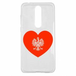 Etui na Nokia 5.1 Plus Eagle in the heart