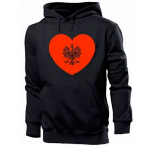 Men's hoodie Eagle in the heart