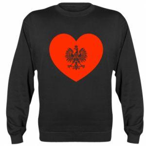 Sweatshirt Eagle in the heart