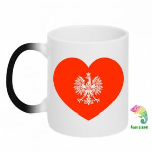 Kubek-kameleon Eagle in the heart
