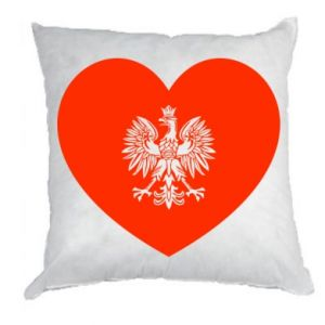 Poduszka Eagle in the heart