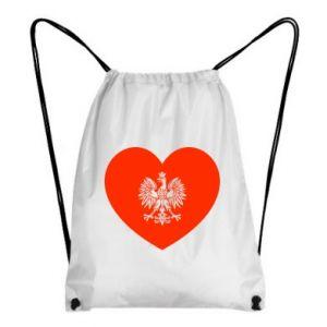 Plecak-worek Eagle in the heart