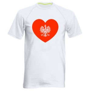 Men's sports t-shirt Eagle in the heart