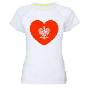 Koszulka sportowa damska Eagle in the heart