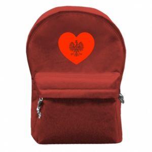 Plecak z przednią kieszenią Eagle in the heart