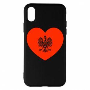 Etui na iPhone X/Xs Eagle in the heart