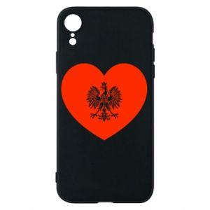 Etui na iPhone XR Eagle in the heart