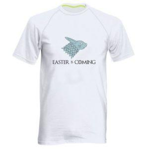 Męska koszulka sportowa Easter is coming