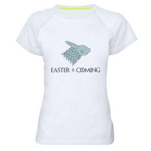 Damska koszulka sportowa Easter is coming