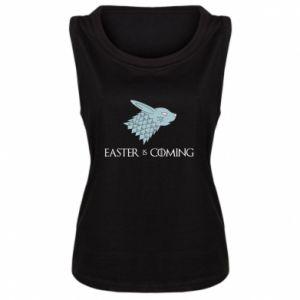 Damska koszulka bez rękawów Easter is coming