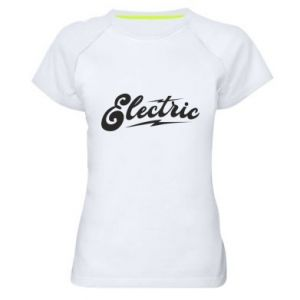 Damska koszulka sportowa Electric