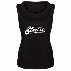 Damska koszulka bez rękawów Electric