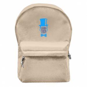 Plecak z przednią kieszenią Elegancki tata