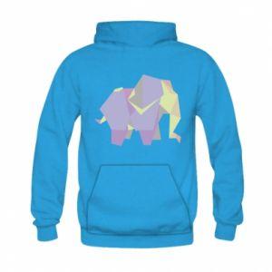 Bluza z kapturem dziecięca Elephant abstraction