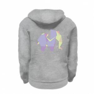 Bluza na zamek dziecięca Elephant abstraction