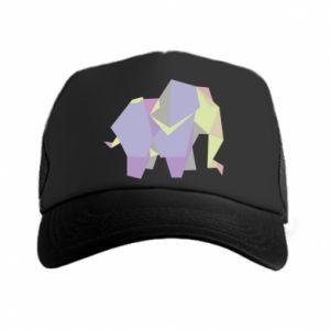 Trucker hat Elephant abstraction - PrintSalon