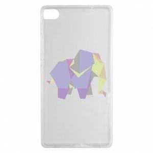 Etui na Huawei P8 Elephant abstraction