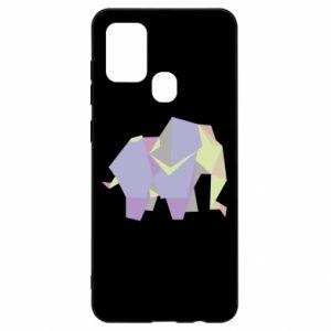 Etui na Samsung A21s Elephant abstraction