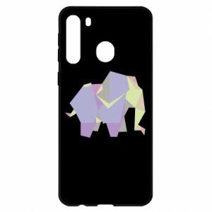 Etui na Samsung A21 Elephant abstraction