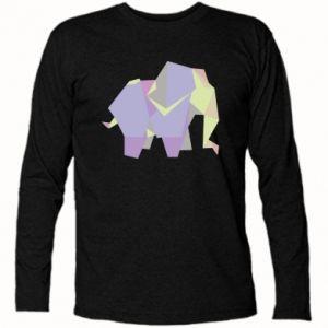Long Sleeve T-shirt Elephant abstraction - PrintSalon