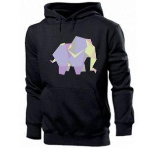 Men's hoodie Elephant abstraction - PrintSalon