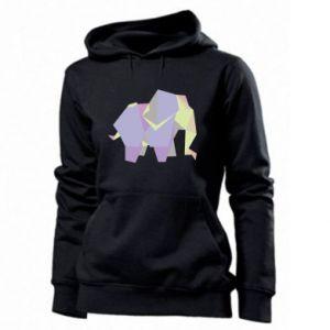 Women's hoodies Elephant abstraction - PrintSalon