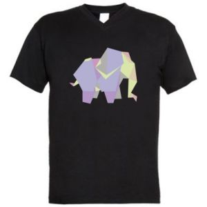 Męska koszulka V-neck Elephant abstraction