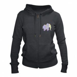 Damska bluza na zamek Elephant abstraction