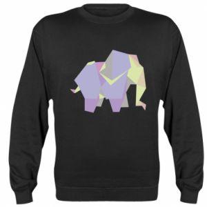 Sweatshirt Elephant abstraction - PrintSalon