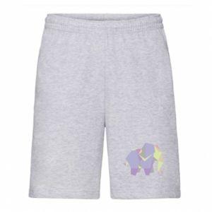Men's shorts Elephant abstraction - PrintSalon