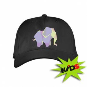 Kids' cap Elephant abstraction - PrintSalon