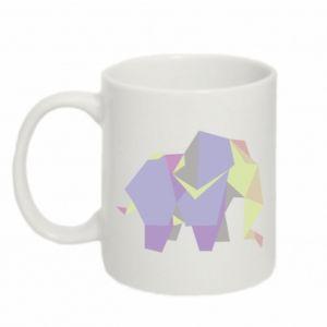 Mug 330ml Elephant abstraction - PrintSalon