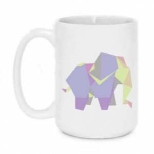 Mug 450ml Elephant abstraction - PrintSalon