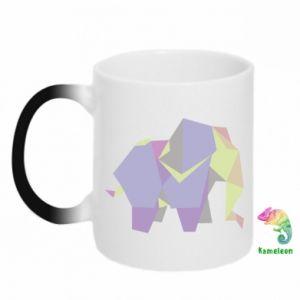 Chameleon mugs Elephant abstraction - PrintSalon