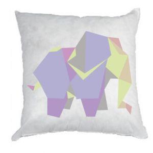 Pillow Elephant abstraction - PrintSalon