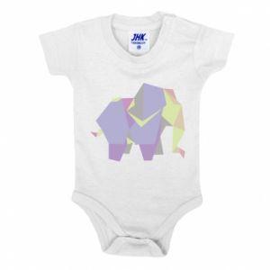 Baby bodysuit Elephant abstraction - PrintSalon