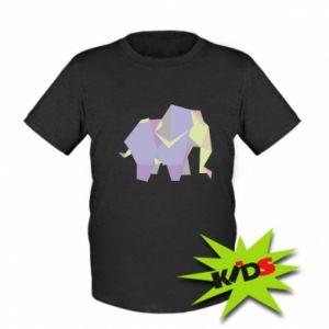 Kids T-shirt Elephant abstraction - PrintSalon
