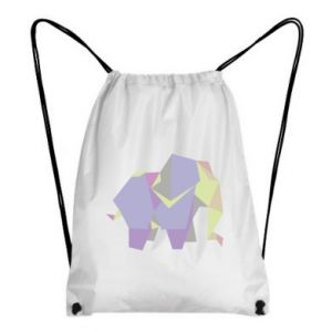 Backpack-bag Elephant abstraction - PrintSalon