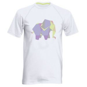 Men's sports t-shirt Elephant abstraction - PrintSalon