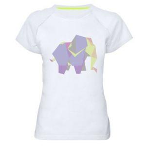 Women's sports t-shirt Elephant abstraction - PrintSalon