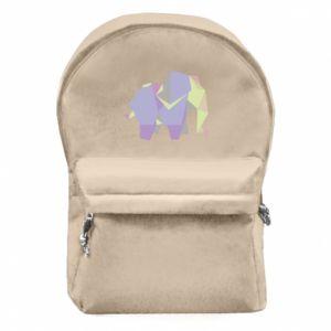Plecak z przednią kieszenią Elephant abstraction