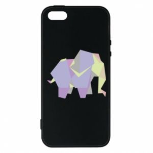 Phone case for iPhone 5/5S/SE Elephant abstraction - PrintSalon