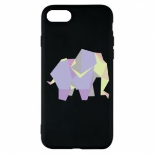 Phone case for iPhone 8 Elephant abstraction - PrintSalon