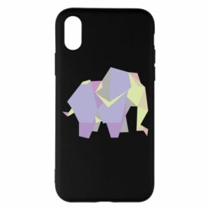 Phone case for iPhone X/Xs Elephant abstraction - PrintSalon