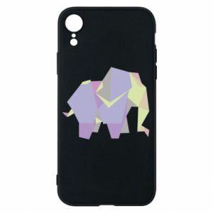 Etui na iPhone XR Elephant abstraction