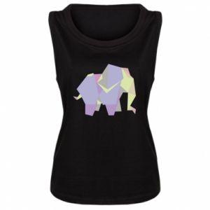 Damska koszulka bez rękawów Elephant abstraction
