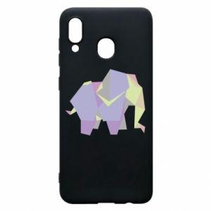 Etui na Samsung A20 Elephant abstraction
