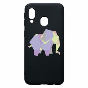 Phone case for Samsung A40 Elephant abstraction - PrintSalon
